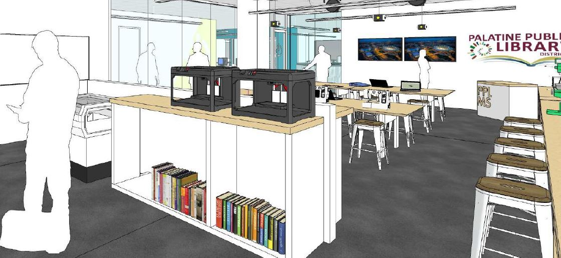 Architectural rendering of the creative zone