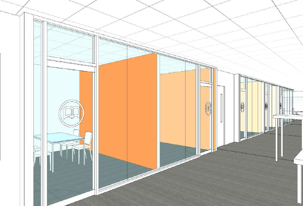 Architectural rendering of additional study rooms