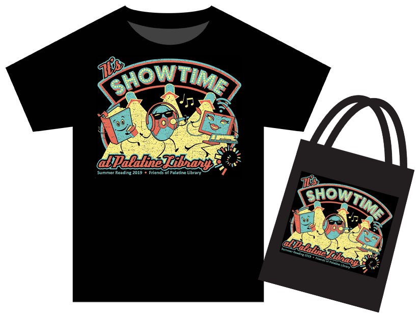 Photo of this year's Summer Reading t-shirt and tote bag