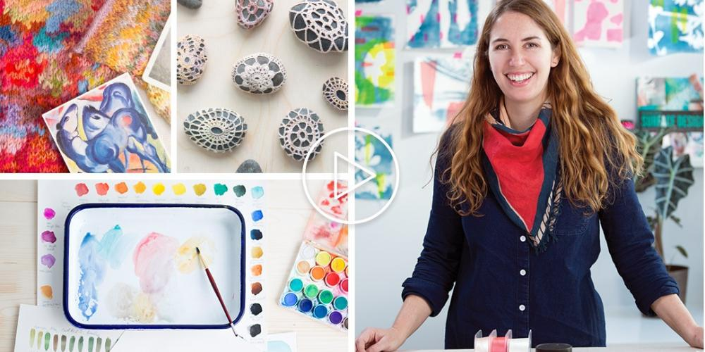 Examples of Crafts Made from Creativebug classes