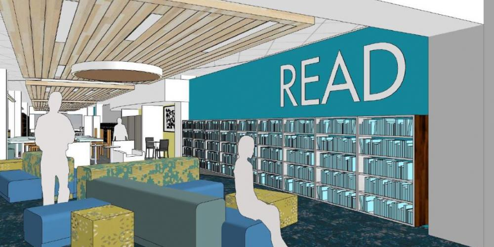 Architect Rendition of Library Space