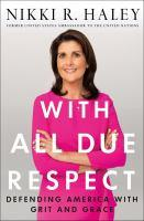 Cover image for With All Due Respect